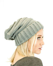 Womens Cc Oversized Solid Knit Warm Baggy Cap Thick Slouchy Beanie