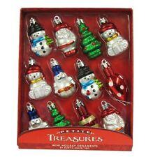 Miniature 12 Christmas Ornaments Set by Kurt Adler Snowman Santa Claus Shaped