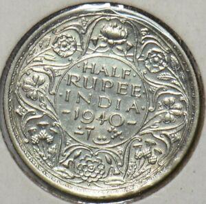 India British 1940 1/2 Rupee 151187 combine