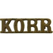 Norfolk Yeomanry (King's Own Royal Regiment) KORR Kings Shoulder Title Badge SY6