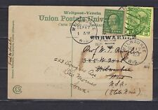 Austria Offices in Crete Scott 15 on Holy Land postcard w/1c Usa mixed franking
