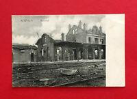 AK ROUVROY Belgien Frankreich ? 1916 zerstörter Bahnhof  ( 58192