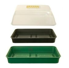 Whitefurze - 38cm Medium Garden Gravel Tray Seed Tray With Propagator Cover Lid
