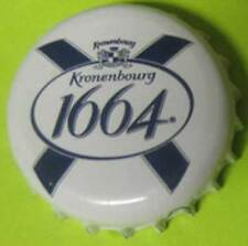 KRONENBOURG 1664 BLANC used Bier Beer CROWN, Bottle CAP with Lion Crest, FRANCE