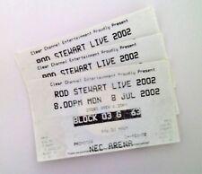 RARE Rod Stewart Memorabilia - Tickets / Stubs NEC Arena Birmingham 08/07/02