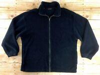 Columbia Deep Pile Fleece Jacket Coat Mens XL Full Zip Blue Shaggy Retro Style
