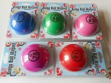 5 BINGO BALL MAGNET KITS EACH WITH 100 CHIPS - BLUE, GREEN, PINK, PURPLE, RED