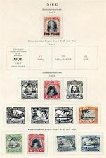Niue 1931 to 1953 Coronatiobn mint on 4 pages, cat over £157.00 (2016/06/19#01)