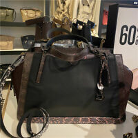 NWT COACH 76459 Dreamer 36 Exotic Large Color-Block Carryall Black/Grey