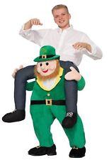 Adult Leprechaun Irish Piggy Back Ride On Carry Fancy Dress Costume Mens Outfit