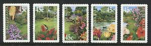 2000 Australia. Gardens.  Full set USED.  Self-adhesive gum.  SG 1965/1969.