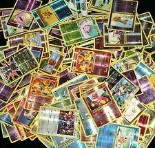 100 POKEMON CARD LOT - COMMONS/UNCOMMONS WITH 5 HOLOS & 5 RARES + BONUS HOLOS!!