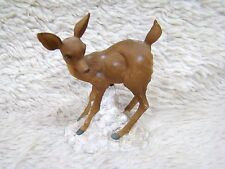 Ceramic/Resin Spotted Deer on White Snowy Base Figurine, Collectible Home Decor