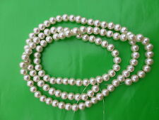 Jewellery Making Off White Colour 8mm Loose Faux Pearl Beads, String, 300 Pcs