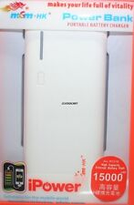 MSM HK Power Bank 15000mAh With Multi Cable For iPhone Tablet Cellphone Phablet