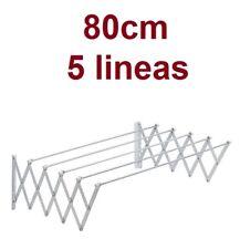 Tendedero extensible plegable metalico de pared en aluminio
