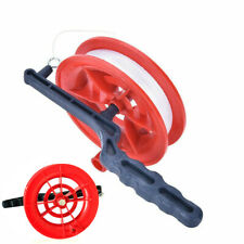 100M Flying Kite White Line String with Red Reel Handle Winder Grip Wheel Tool
