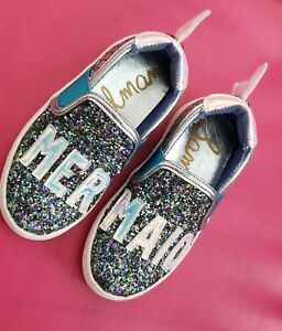 Sam Elderman Blue Sequined Mermaid shoes toddler girls size 7