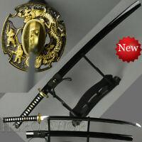 Handmade VERY SHARP Japanese Katana Samurai T1095 Steel Sword Full Tang Sharp