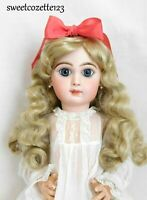 """Doll Wig Light Blonde Size 14"""" New in Pkg. Synthetic Long Curls NICE"""