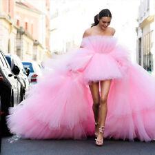 Pink Gorgeous Detachable Train Wedding Dress Strapless Short Custom Bridal Gown