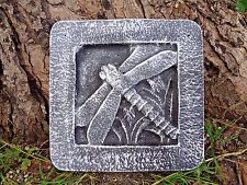 """plaster concrete mold dragonfly tile plastic mould 8"""" x 8 x just under 1"""" thick"""