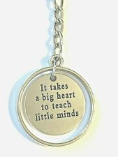 Big Heart to Teach Little Minds Key Chain Great Teacher Gift Us Seller Free Ship