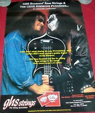 Rare KISS Gene Simmons Punisher Guitar GHS Bass Boomers Poster Music Rock & Roll