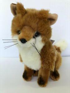 """Bocchetta Plush Toys Fox Sitting 'Reynard' """"Most Realistic Plush Animal NWT"""