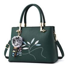 Bolso de mujer maletero asas bandolera verde flores grande como piel 2422