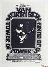 Van Morrison Tower of Power Poster 1972 Sep 25 Fairgrounds Expo Randy Tuten