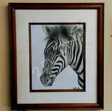 Zebra Framed Art Drawing