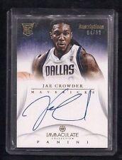 Jae Crowder 2012-13 Immaculate ON-CARD Auto Rookie #/99! Rare! Boston Celtics RC
