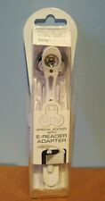 The Really Tiny Book Light With E-Reader Adapter - White - BNIB