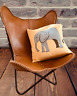 Handmade Vintage Genuine Leather Butterfly Chair Living Room Relax Arm Chair