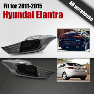 Smoked LED Tail Lights Sequential Indicator For Hyundai Elantra Mk5 MD Series