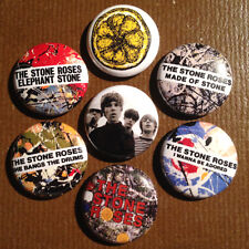"7 Stone Roses 1"" Buttons Blur Oasis My Bloody Valentine FREE SHIPPING"