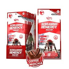 Vital 4U Screamin Energy Max Hit, Panax Ginseng Energy Shot Coffee Mocha, 24ct.