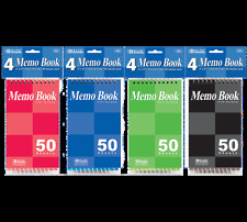 """4 Pack of 50 Page 3"""" X 5"""" Top Bound Spiral Memo Note Book Emergency Survival Kit"""
