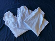 More details for set of 3 ex-rental, short sleeve chefs jackets, select size x-small up to 3xl