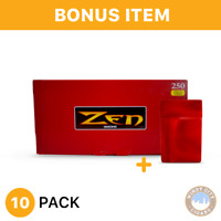 ZEN RYO King Size Full Flavor Cigarette Tubes - 10 box - 2500 tubes+FREE cig Cas