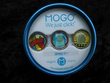 MOGO Magnetic Charms Spike It Volleyball We Just Click Set of 3 Charms Tin New