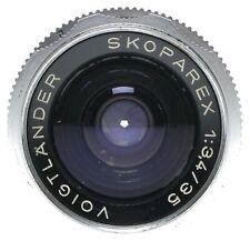Voigtlander Skoparex 1:3.4/35mm Wide Angle Lens Bessamatic Ultramatic