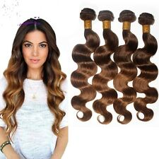 400g/4 bundles unprocessed ombre malaysian bodywave human hair 16,18,20,22inches