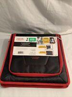"Five Star 2""  Multi-Pocket Zipper Binder - 530 Sheet Capacity Black/Red"