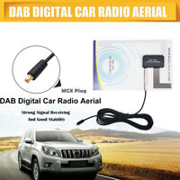 Universal DAB/DAB+ Glass Mount DAB Digital Car Radio Aerial Antenna Adhesive MCX