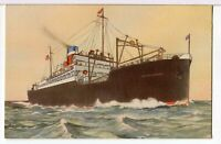 SS AMERICAN IMPORTER 1930s United States Lines Ships Postcard