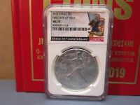 2016 Silver American Eagle S$1 First Day Of Issue MS70 NGC 30Th Anniversary