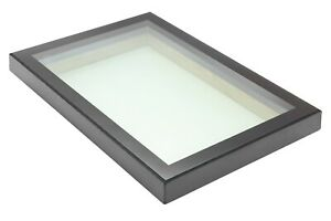 FLAT ROOF ROOFLIGHT SKYLIGHT TRIPLE GLAZE SELF CLEAN ALI FRAME LAMINATED GLASS