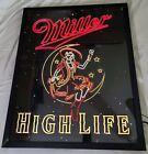 "Miller High Life Girl In the Moon Backlit Neo Neon LED Light Box24""x30""RARE"